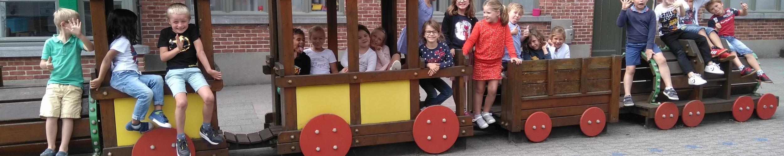 De trein van klas 1B is vertrokken voor het nieuwe schooljaar!